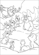 Thumper And Friends  from Bambi Coloring Page
