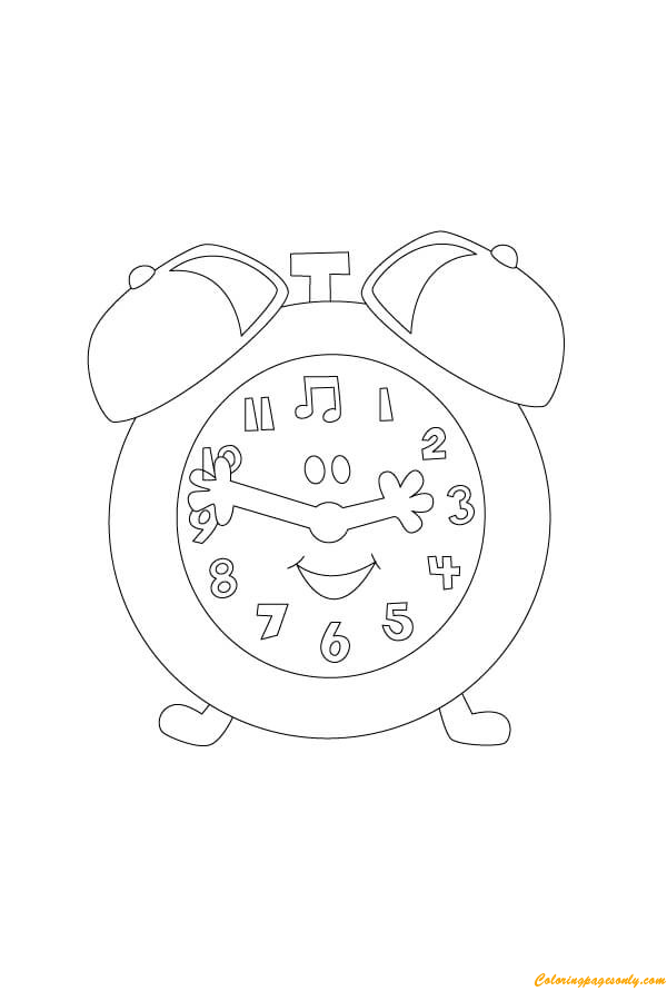 Tickety tock clock coloring page free coloring pages online Tickety Toc Madame AU Lait tickety toc coloring pages Tickety Toc Chickadee Coloring Page Coloring