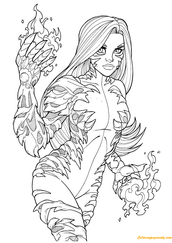 Tigra Avengers Coloring Page
