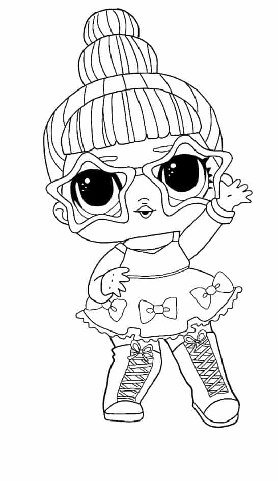 Lol Suprise Doll Tinsel Coloring Page