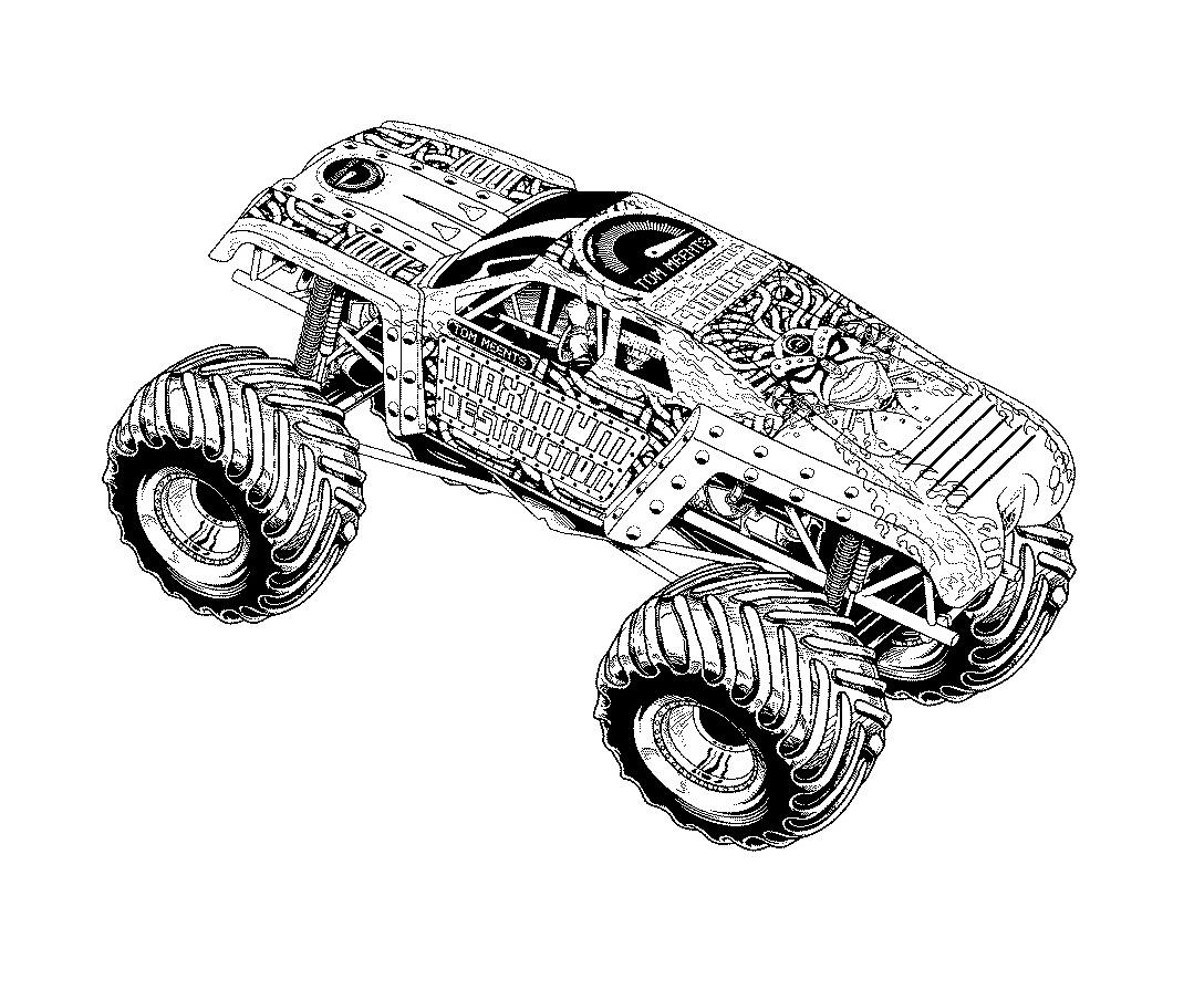 monster truck bilder zum ausmalen  malvorlagen gratis