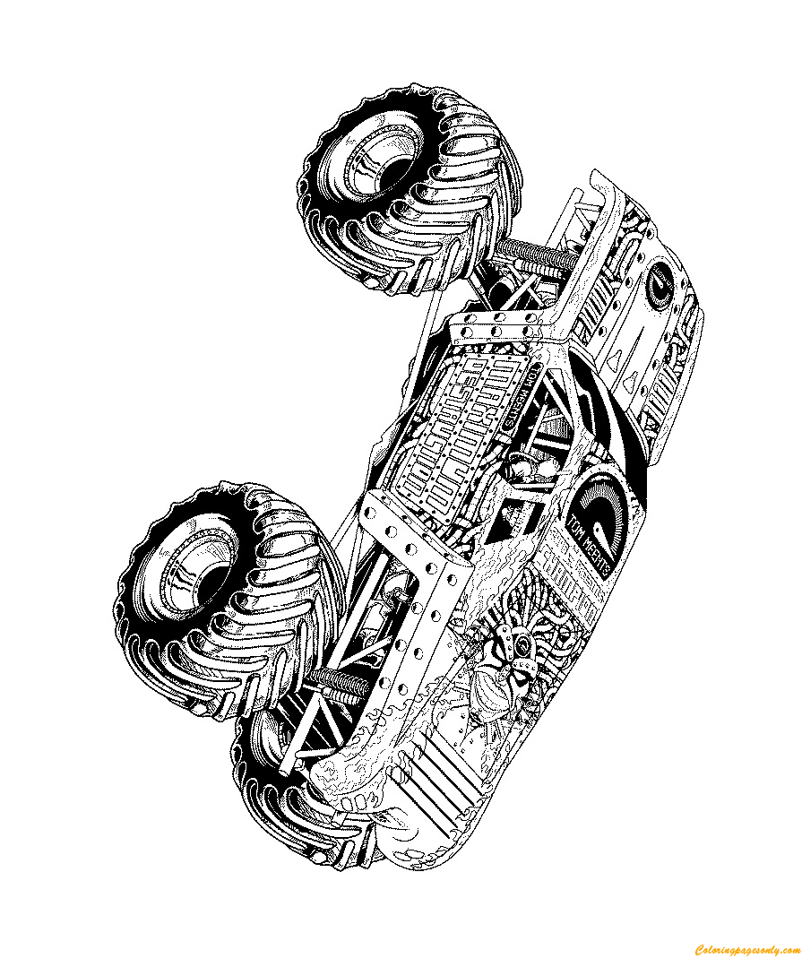 Tom Meents Monster Trucks Coloring Page