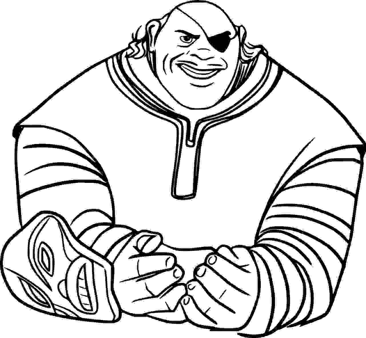 Tong from Spine Land Coloring Page