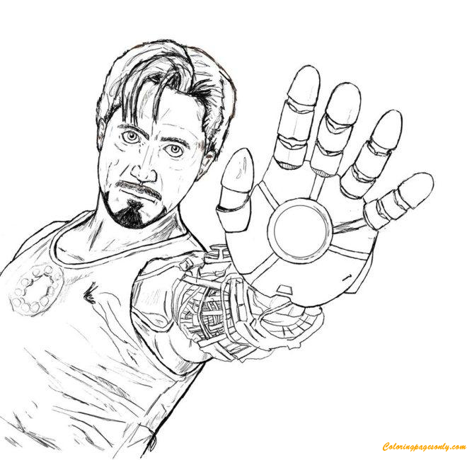 tony stark coloring pages tony stark avengers coloring page free coloring pages online