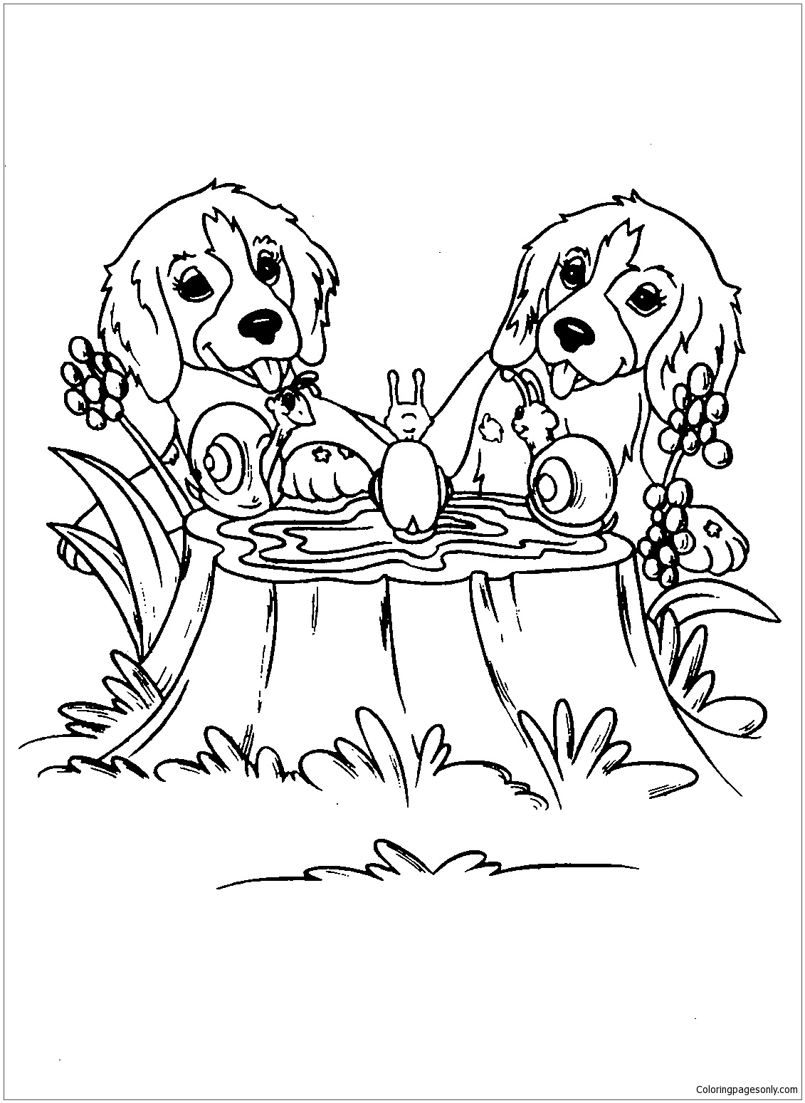 Puppy Dog Pals Coloring Page Two Puppies Together - Get Coloring Pages | 1549x1131
