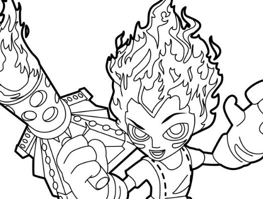 Torch Is A Dragon Keeper Coloring Page
