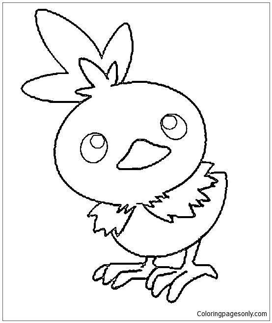Torchic Pokemon Coloring Page