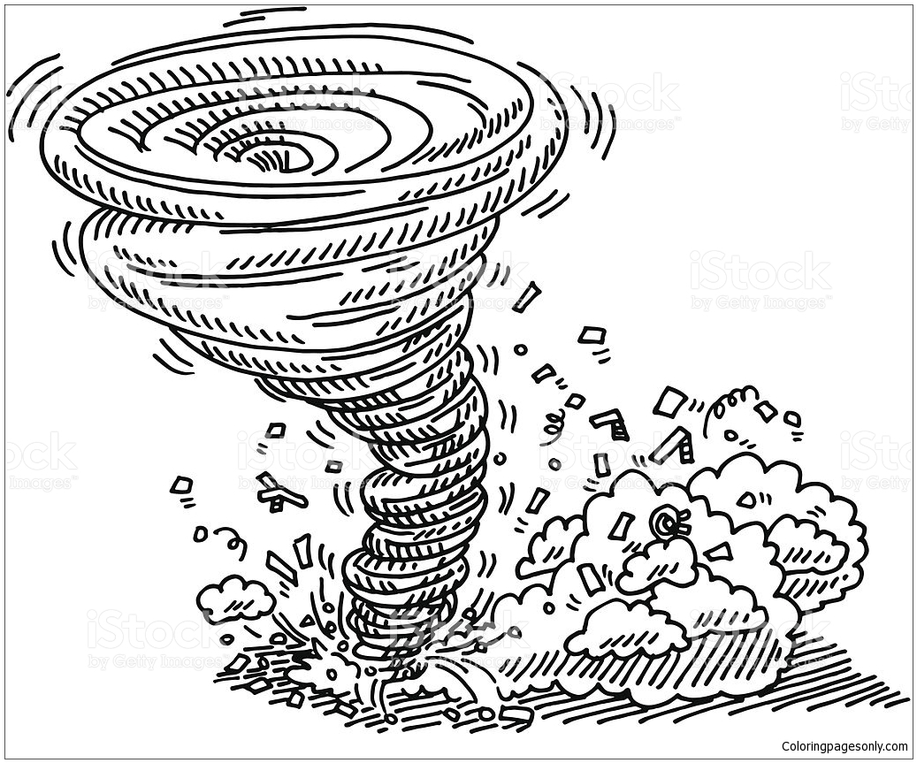 tornado disaster coloring page free coloring