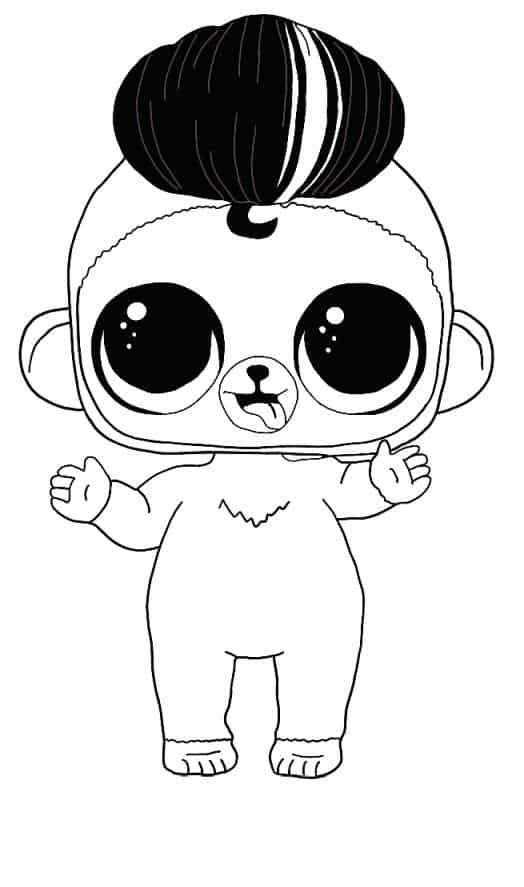Lol Suprise Doll Tough Monkey Coloring Page