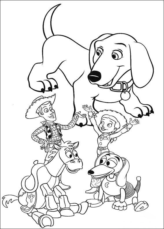 Toy Story Family Coloring Page