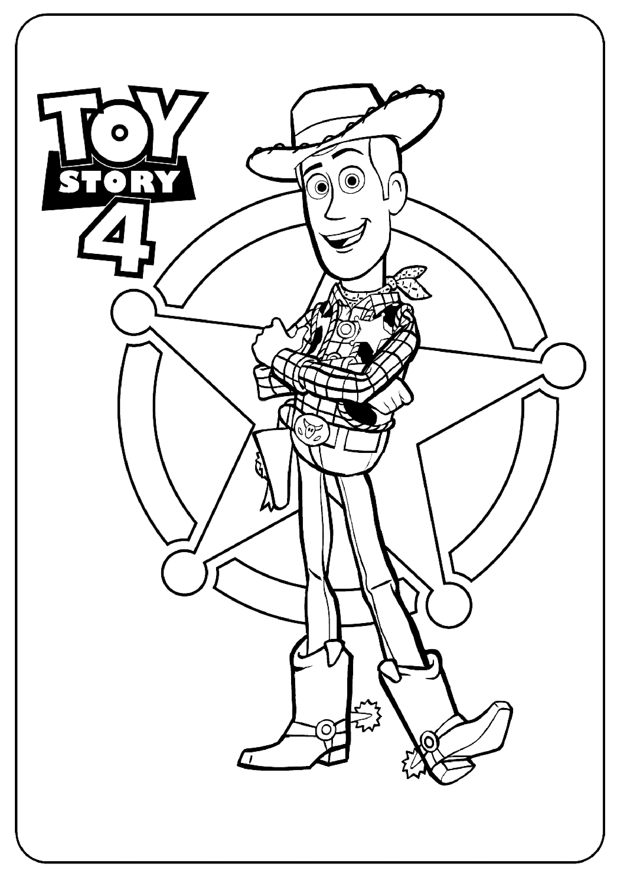 Sheriff Woody Toy Story 4 Coloring Page