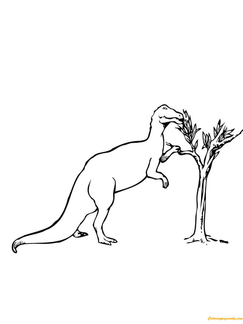 Trachodon Dinosaur Coloring Page