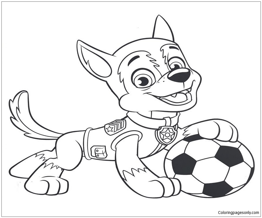 Tracker And Marshall Coloring Page - Free Coloring Pages ...