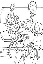 Trade Federation Robots Coloring Page