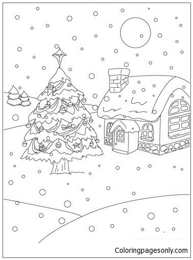 Traditional Christmas Tree Coloring Page