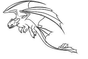 Train Your Dragon Coloring Page