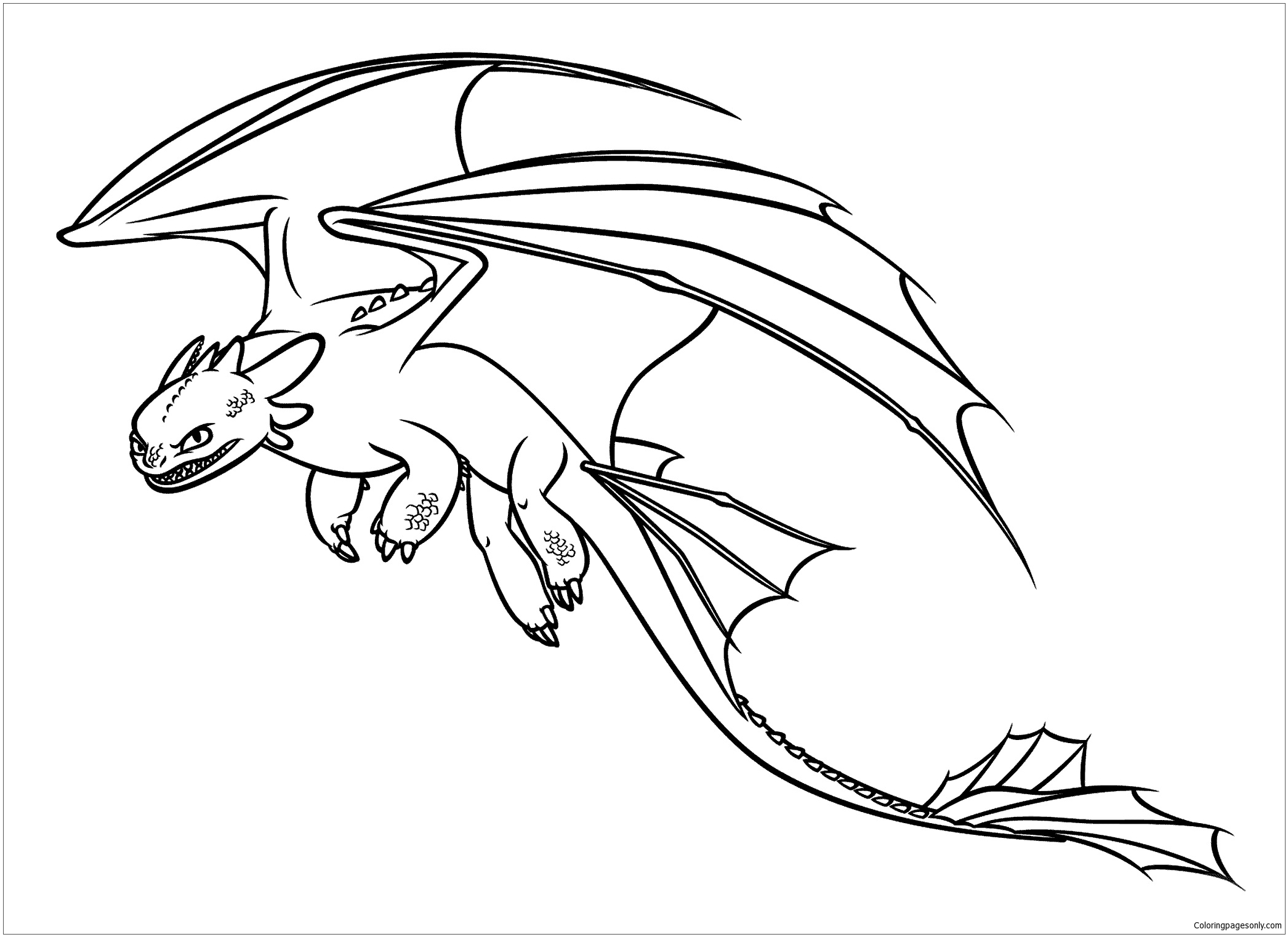 - Train Your Dragon Coloring Page - Free Coloring Pages Online