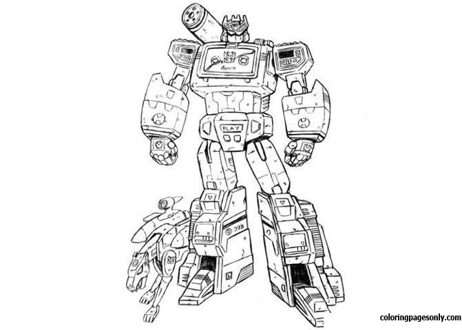 Transformer And His Pet Coloring Page