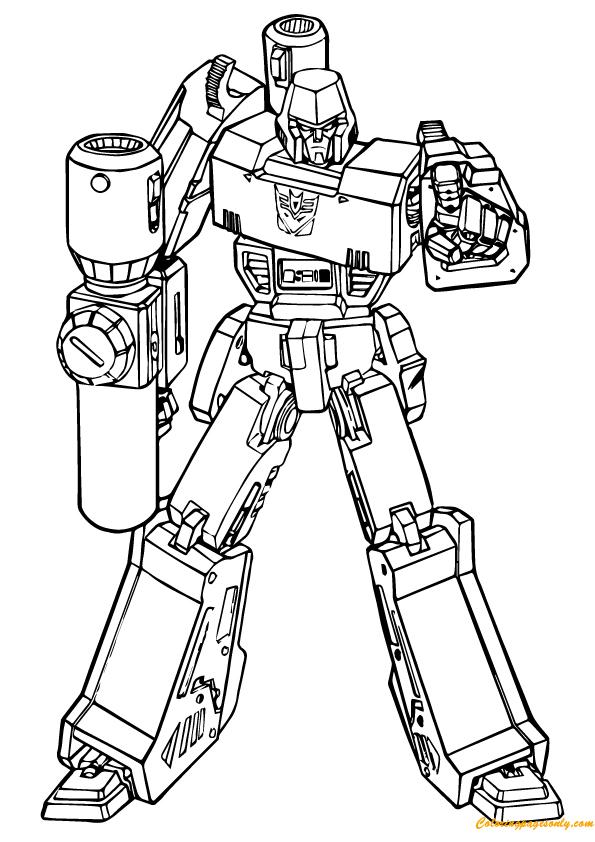 Transformer Putting Down The Gun Coloring Page - Free ...