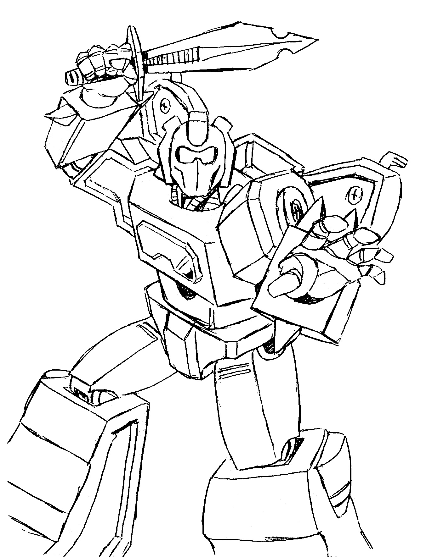 Transformers 3 Fighting Coloring Page