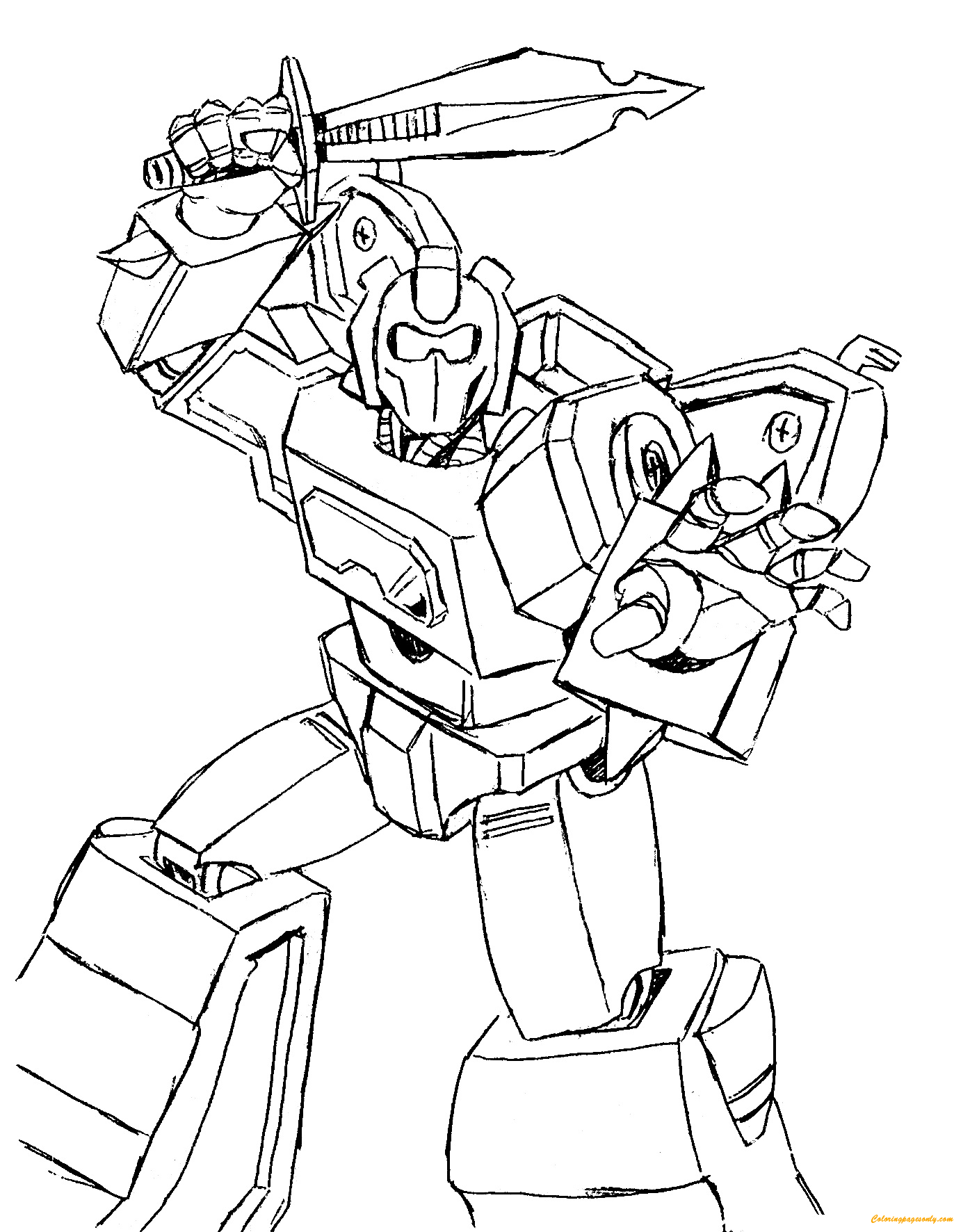 Transformers 3 Fighting Coloring Page - Free Coloring ...