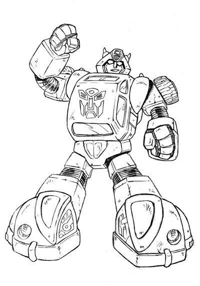 Transformers Bumblebee Tyran Coloring Page