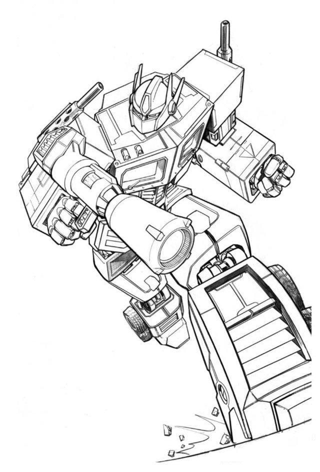 Transformers Holding Gun