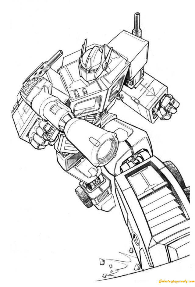Transformers Bumblebee Listening To Music Coloring Page
