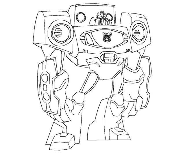 Transformers Iron Hide Coloring Page