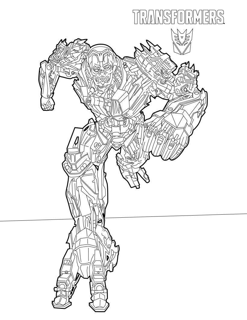 Bumblebee And Jazz Transformers Coloring Page