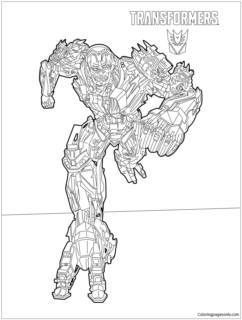 Transformers Lockdown Coloring Page