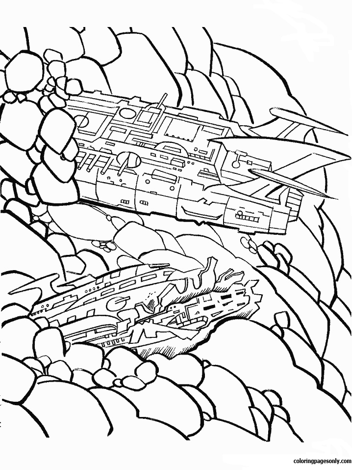 Transformers Machine Coloring Page