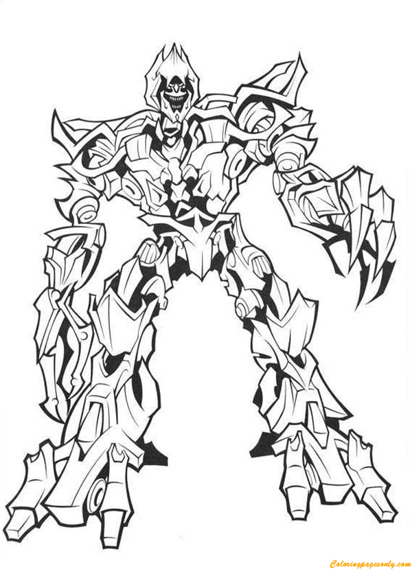 Transformers Megatron The Evil Master Coloring Page Free
