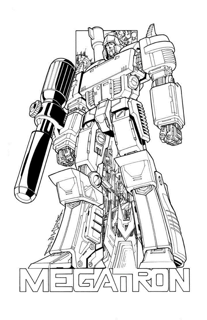 transformers megatron coloring page free coloring pages online
