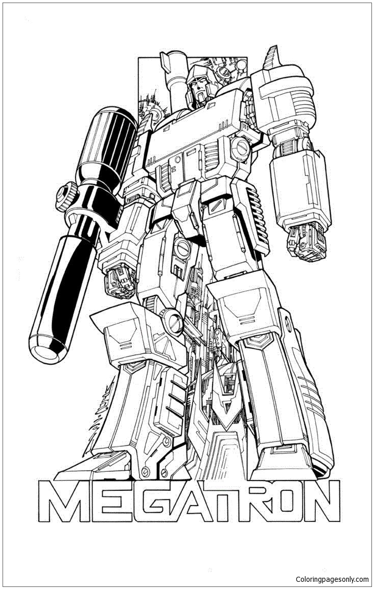Transformers Megatron Coloring Page Free Coloring Pages
