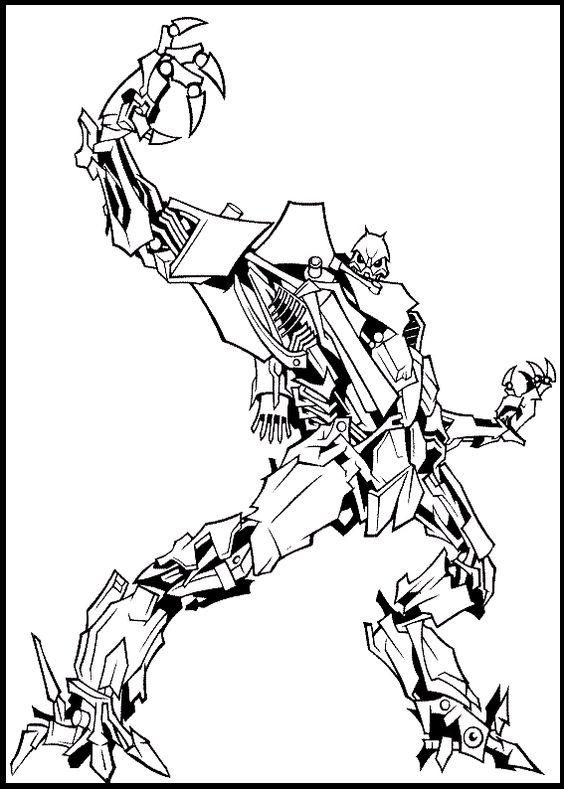 Transformer Robot Decepticons Coloring
