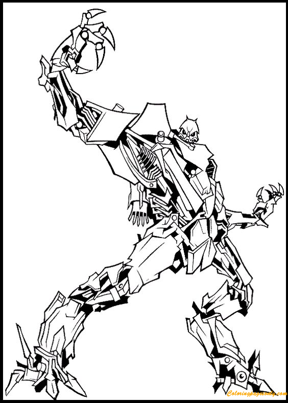 Transformers Movie Starscream Coloring Page Free