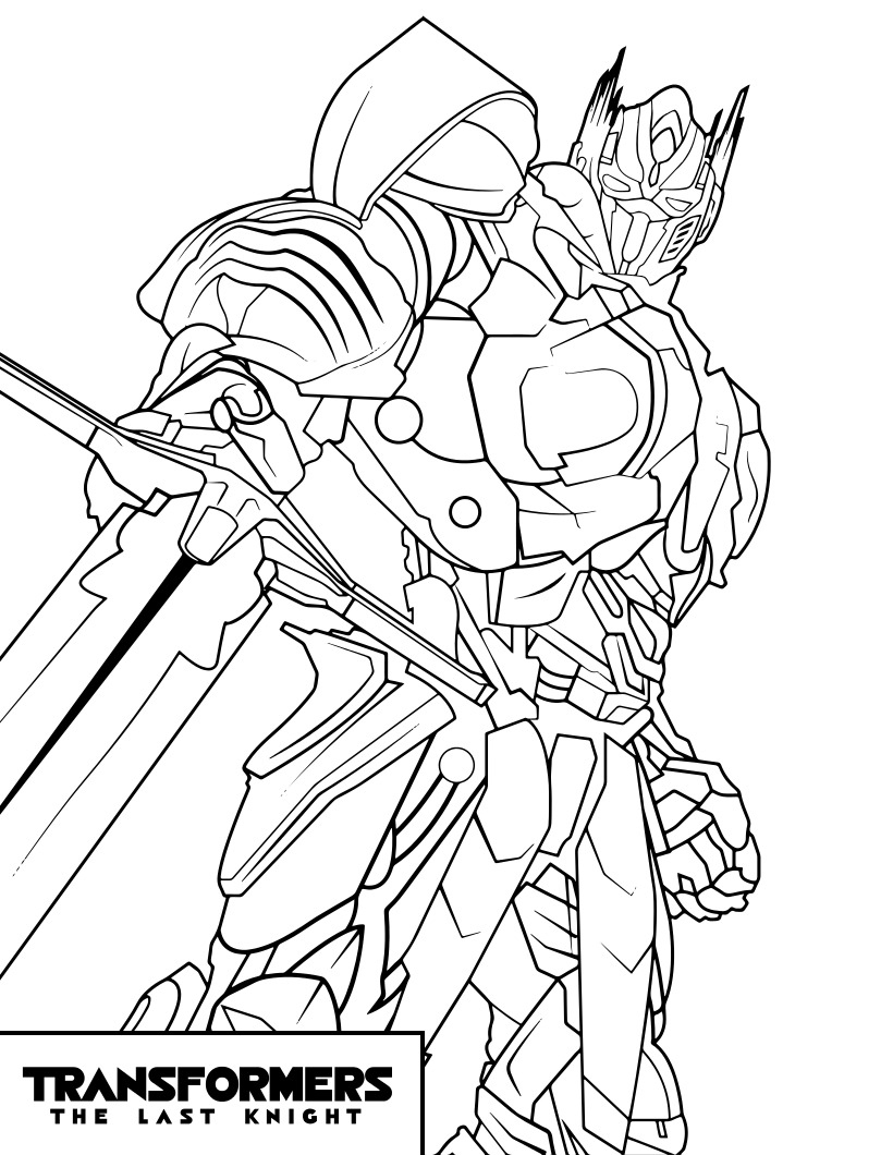 Transformers Optimus Prime The Last Night Coloring Page