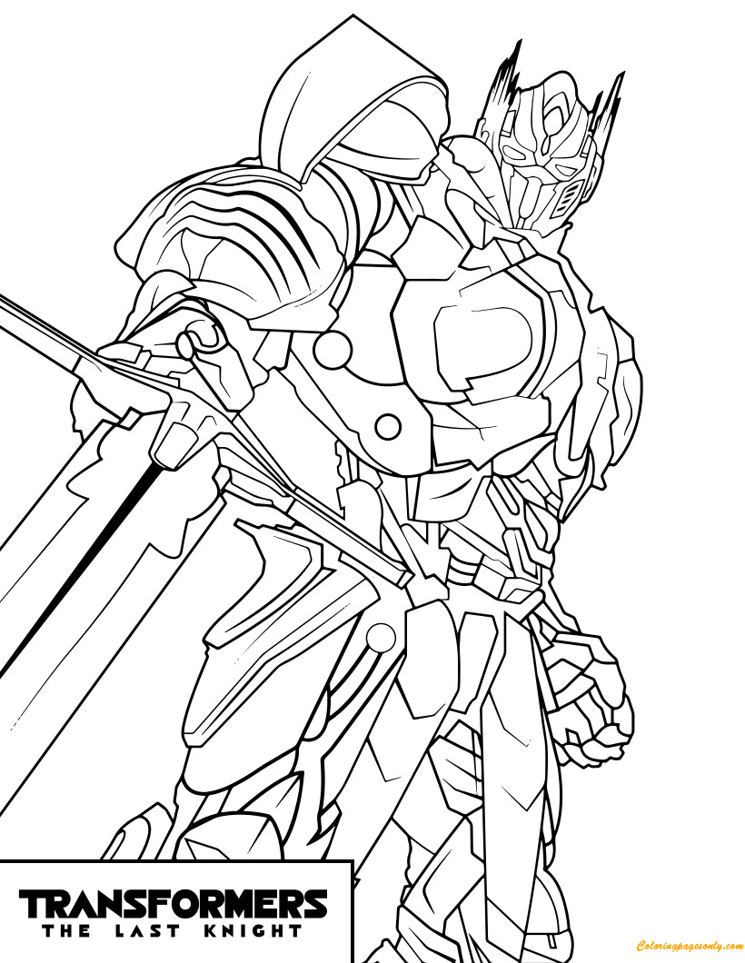 Transformers optimus prime the last night coloring page free coloring pages online - Dessin optimus prime ...