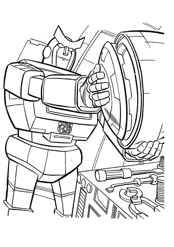 Transformers Repairing Coloring Page