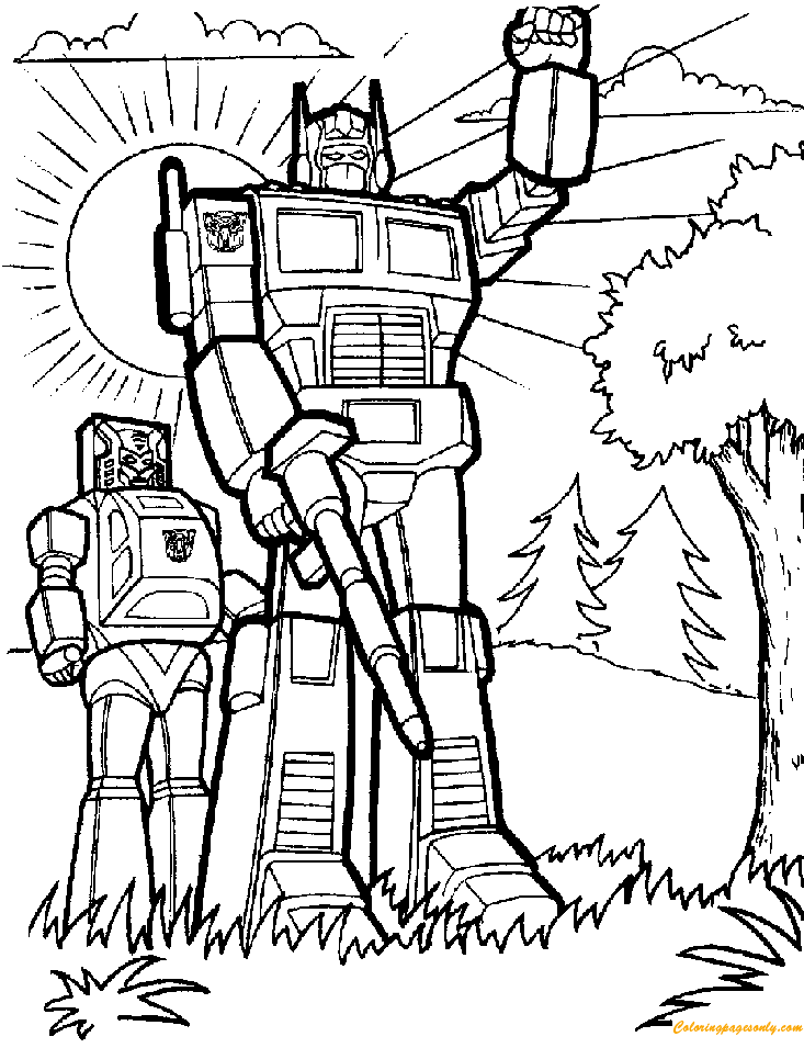 Transformers Robots Coloring Page Free Coloring Pages Online