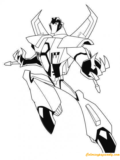 Transformers Starscream Coloring Page Free Coloring