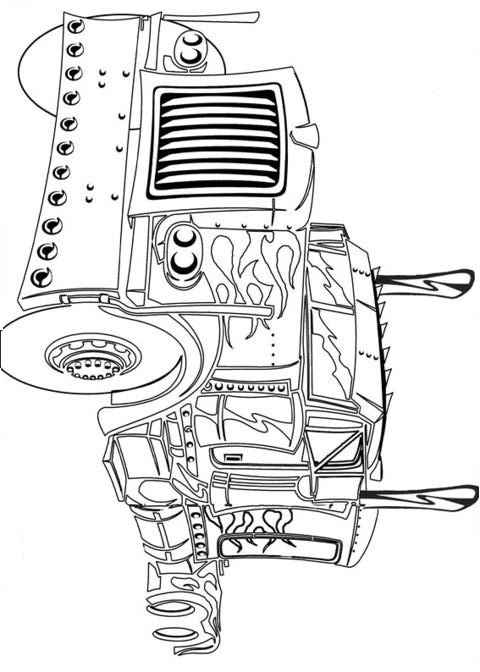 Transformers Truck Coloring Page