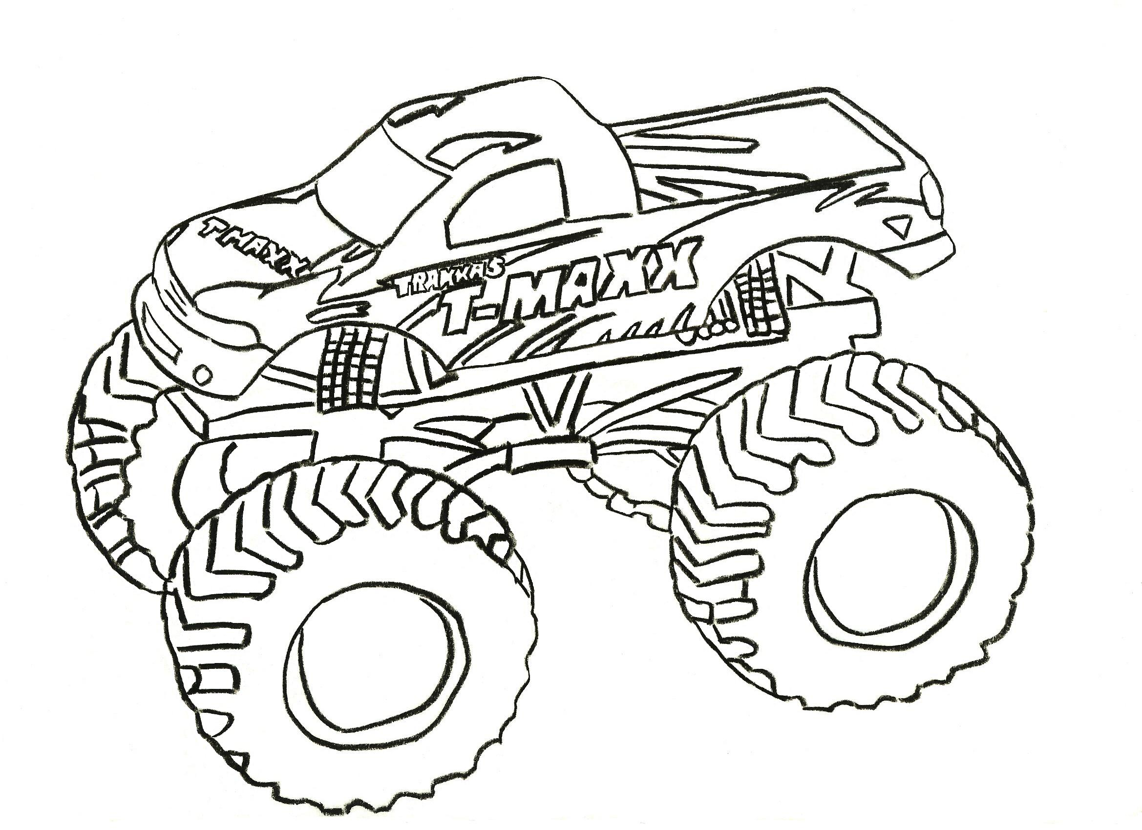 Traxxas T-Maxx Monster Truck Coloring Page