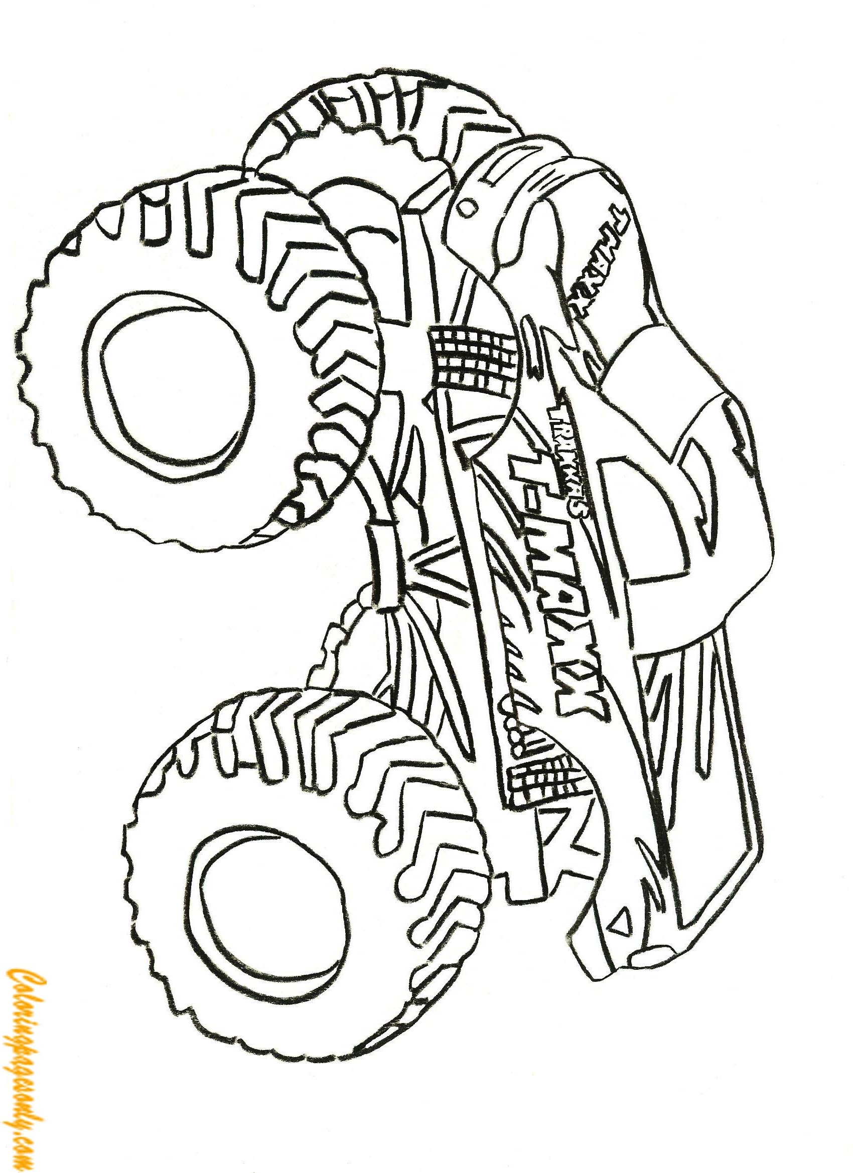 Traxxas T Maxx Monster Truck Coloring Page Free Coloring