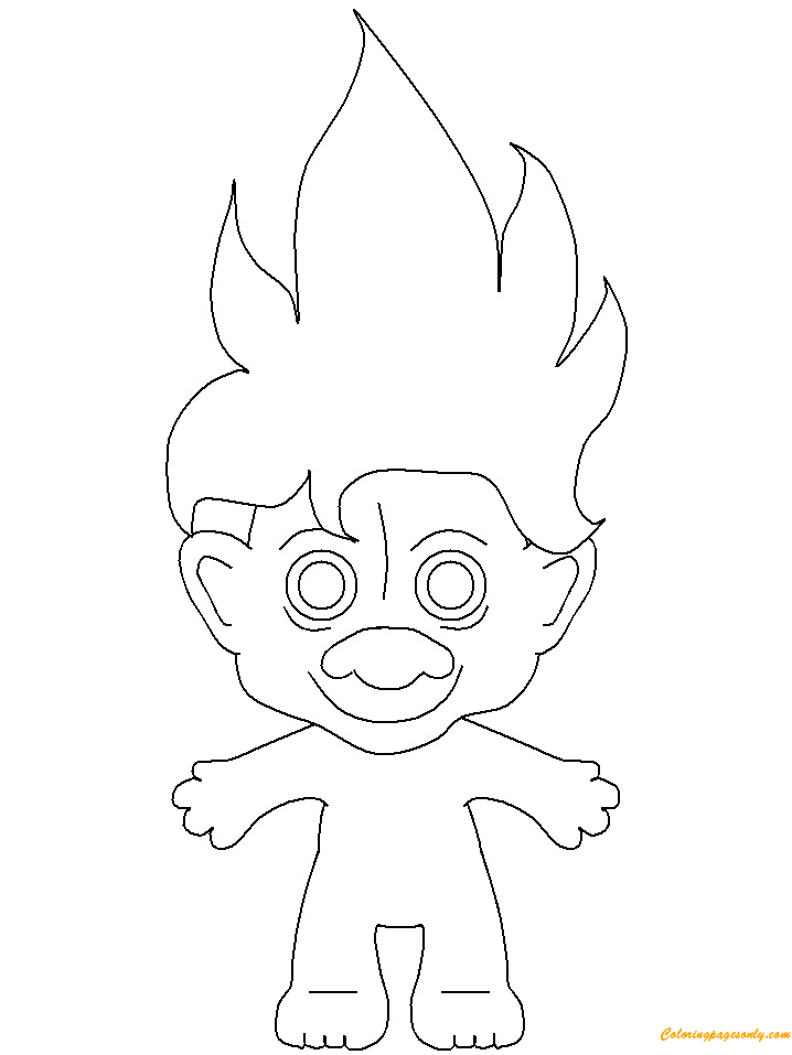 Treasure Troll Coloring Page