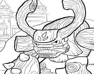 related coloring pages tree rex skylanders