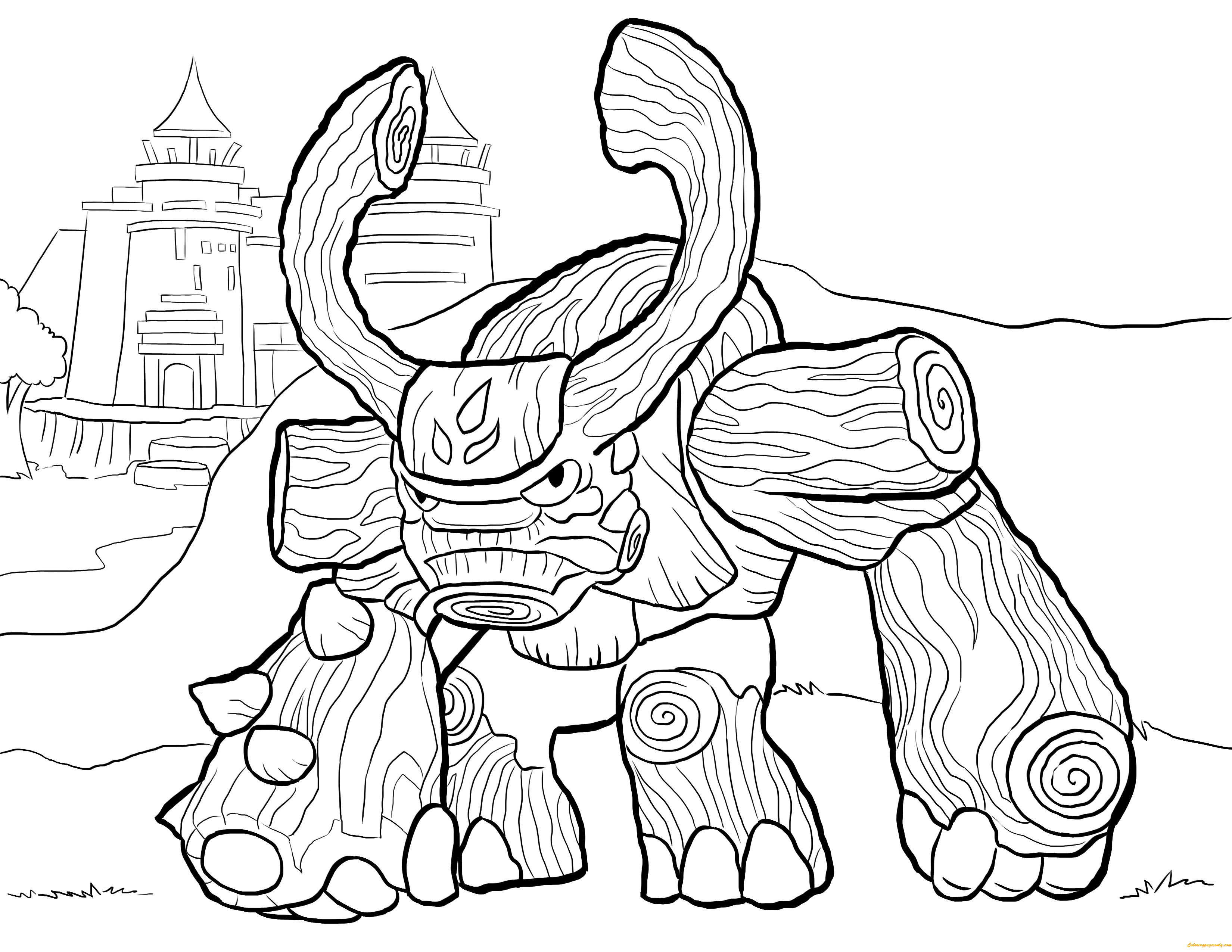 It is a photo of Impeccable Skylander Coloring Pages Printable