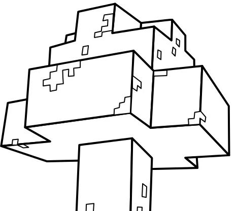 Minecraft Mooshroom Coloring Page