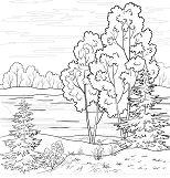 Trend Landscape Coloring Page
